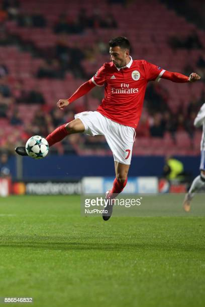 Benfica's Greek midfielder Andreas Samaris in action during the UEFA Champions League Group A football match between SL Benfica and FC Basel at the...