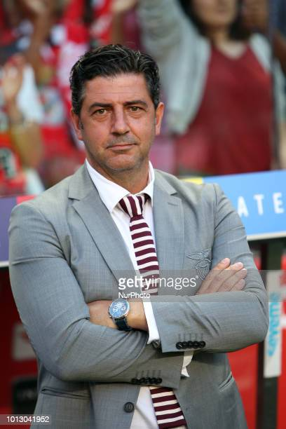 Benfica's head coach Rui Vitoria during the UEFA Champions League 3rd Qualifying Round first leg match Benfica vs Fenerbahce at the Luz Stadium in...