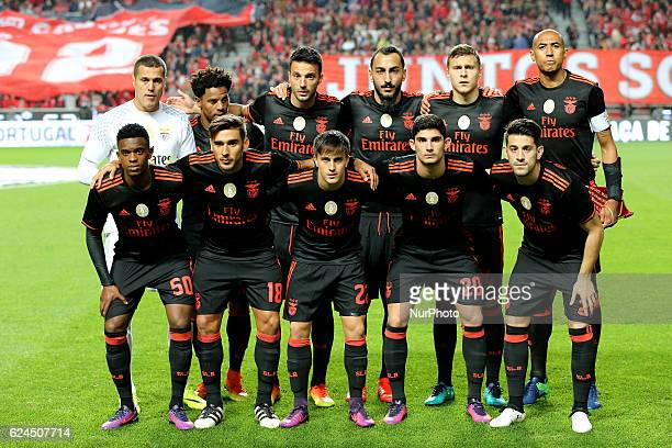 Benficas inicial team during Portuguese Cup match between SL Benfica v CS Maritimo at Luz Stadium in Lisbon on November 19 2016