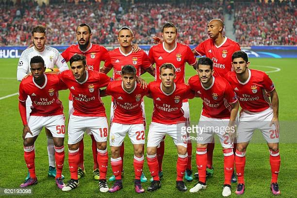 Benficas inicial team during UEFA Champions League Group B match between SL Benfica and Dynamo Kyiv at Luz Stadium in Lisbon on November 1 2016