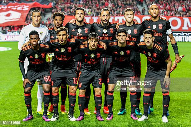 Benfica«s initial team during the SL Benfica v CS Maritimo Portuguese Cup round 4 match at Estadio da Luz on November 19 2016 in Lisbon Portugal
