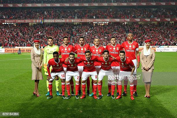 Benfica's Line Up team before the Portuguese League football match SL Benfica vs Sporting CP at the Luz stadium in Lisbon Portugal on December 11 2016