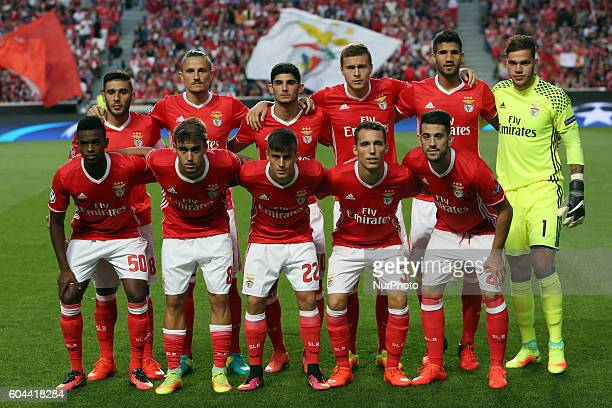 Benfica's line up team before the UEFA Champions League Group B football match between SL Benfica and Besiktas JK at the Luz stadium in Lisbon...