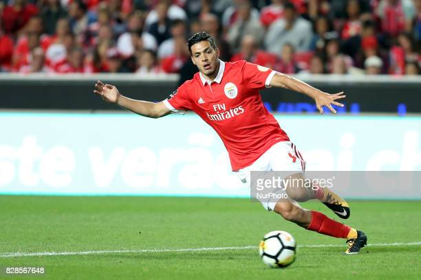 Benfica's Mexican forward Raul Jimenez in action during the Portuguese League football match SL Benfica vs SC Braga at Luz stadium in Lisbon on...