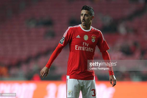 Benfica's midfielder Andre Almeida during the match between SL Benfica and Academica Coimbra FC at Estadio da Luz on December 4 2015 in Lisbon...