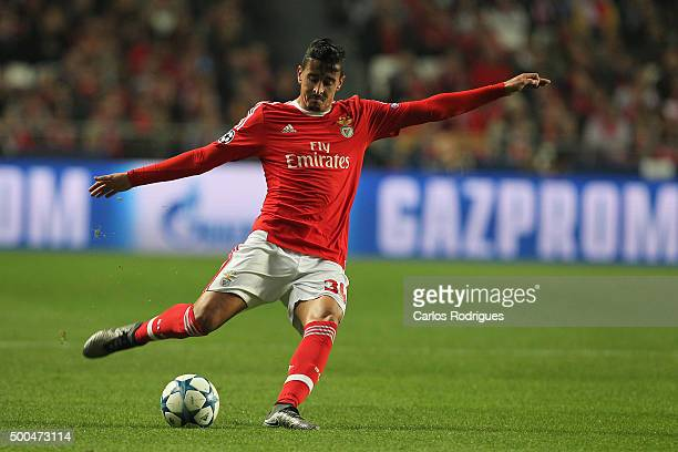 Benfica's midfielder Andre Almeida during the match between SL Benfica and Club Atletico de Madrid for the UEFA Champions League at Estadio da Luz on...