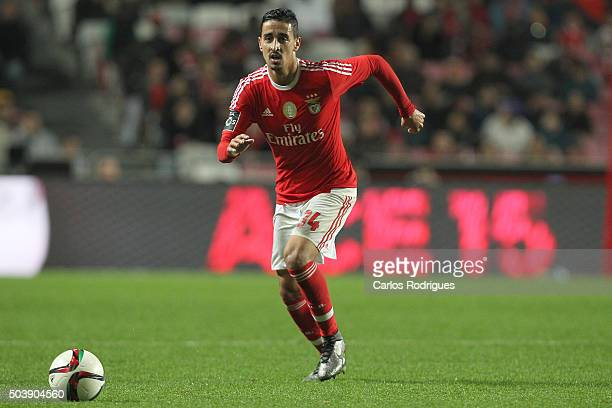 Benfica's midfielder Andre Almeida during the match between SL Benfica and CS Maritimo at Estadio da Luz on January 6 2015 in Lisbon Portugal