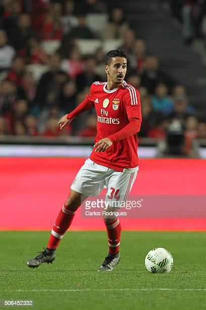 Benfica's midfielder Andre Almeida during the match between SL Benfica and FC Arouca at Estadio da Luz on January 23 2016 in Lisbon Portugal