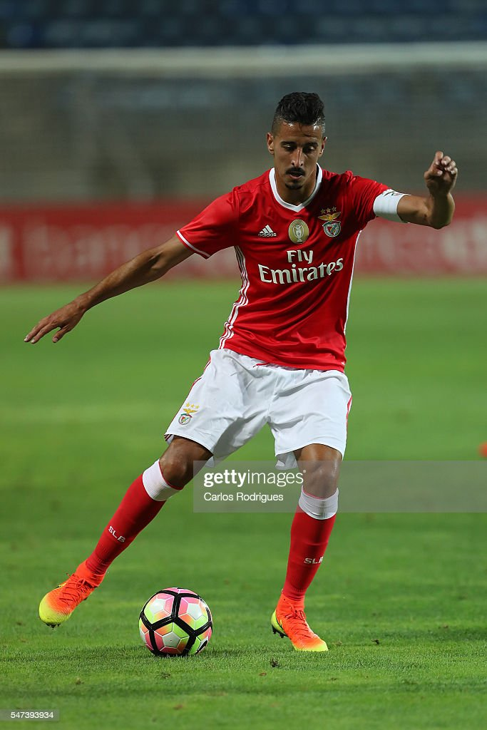 Benfica's midfielder Andre Almeida during the Pre Season match between SL Benfica and Vitoria Setubal at Estadio do Algarve on July 14, 2016 in Faro, Portugal.
