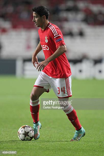 Benfica's midfielder Andre Almeida during the UEFA Champions League match between SL Benfica and AS Monaco at the Estadio da Luz on November 4 2014...