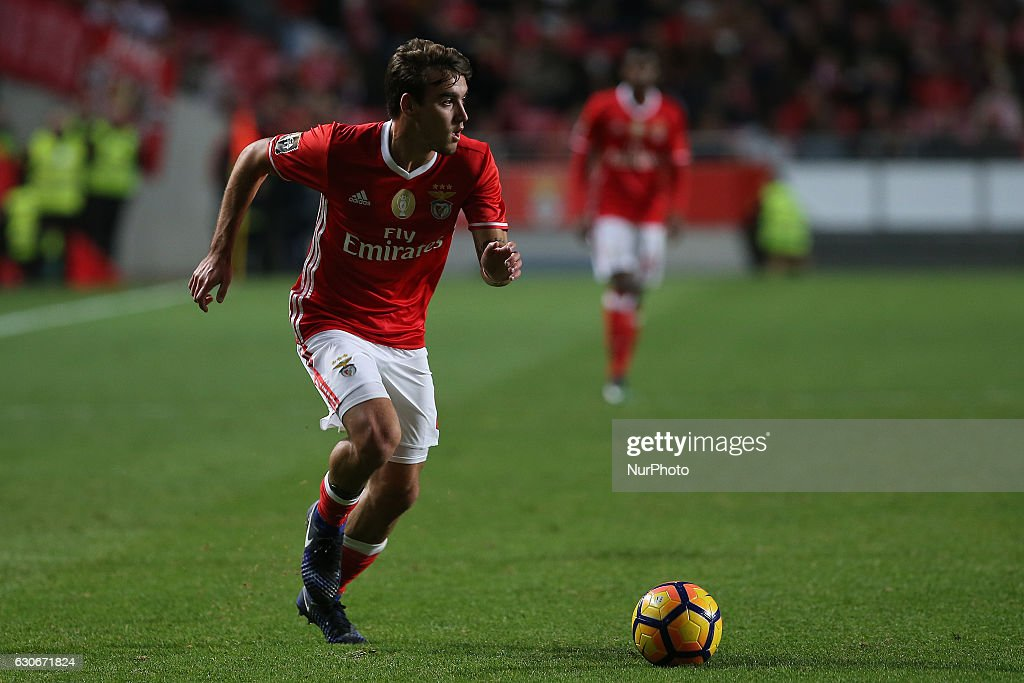 Benficas midfielder Andre Horta from Portugal during the Portuguese Cup 2016/17 match between SL Benfica v FC Pacos Ferreira, at Luz Stadium in Lisbon on December 29, 2016.