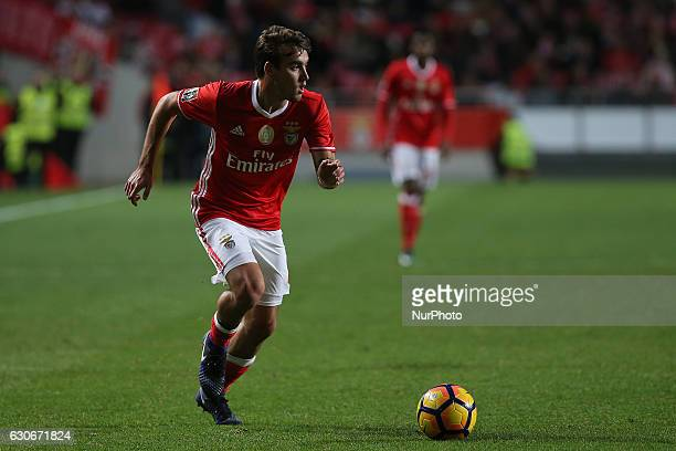 Benficas midfielder Andre Horta from Portugal during the Portuguese Cup 2016/17 match between SL Benfica v FC Pacos Ferreira at Luz Stadium in Lisbon...