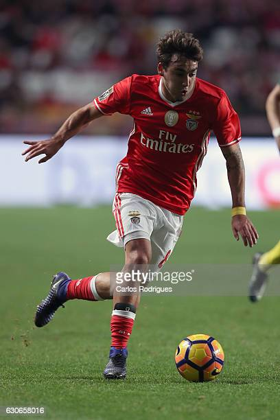 Benfica's midfielder Andre Horta from Portugal during the SL Benfica v FC Pacos de Ferreira Portuguese Cup at Estadio da Luz on December 29 2016 in...