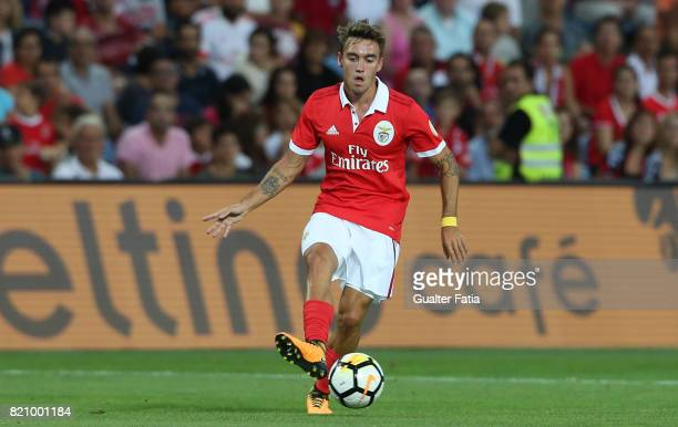 Benfica's midfielder Andre Horta from Portugal in action during the Algarve Cup match between SL Benfica and Hull City at Estadio Algarve on July 22...