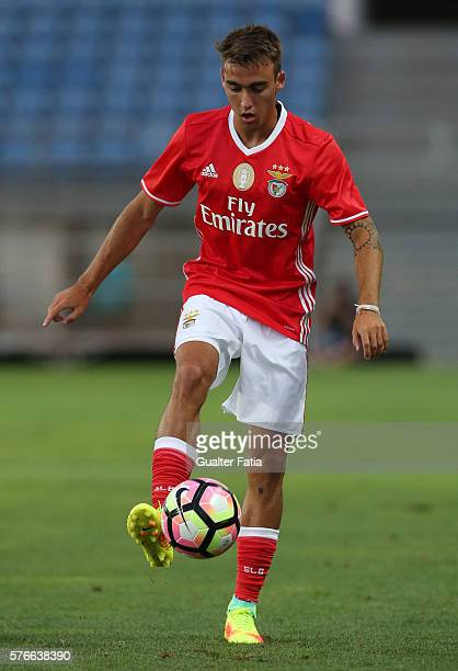 Benfica's midfielder Andre Horta in action during the Algarve Football Cup Pre Season Friendly match between SL Benfica and Derby County at Estadio...