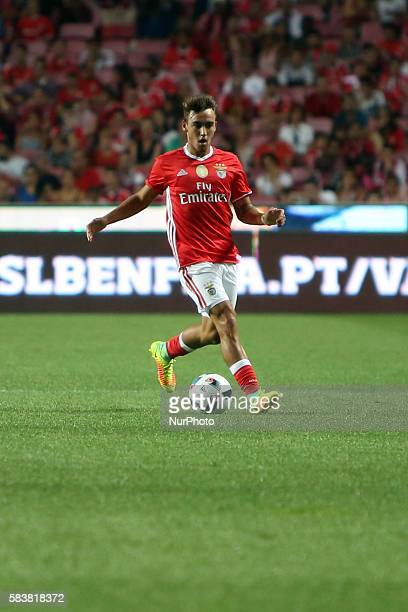 Benfica's midfielder Andre Horta in action during the Eusebio Cup football match between SL Benfica and Torino FC at the Luz stadium in Lisbon...
