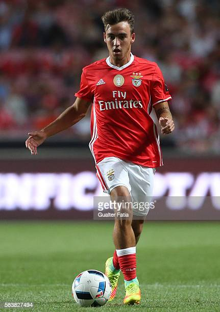 Benfica's midfielder Andre Horta in action during the Eusebio Cup match between SL Benfica and Torino at Estadio da Luz on July 27 2016 in Lisbon...