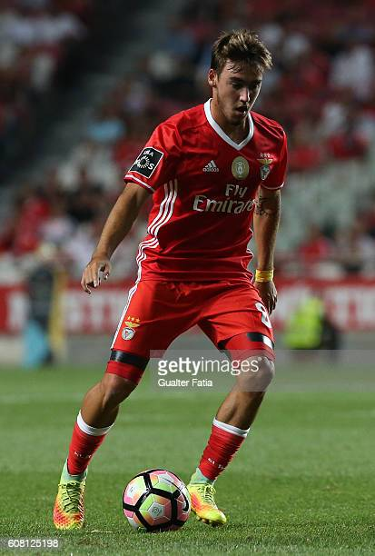 Benfica's midfielder Andre Horta in action during the Primeira Liga match between SL Benfica and SC Braga at Estadio da Luz on September 19 2016 in...