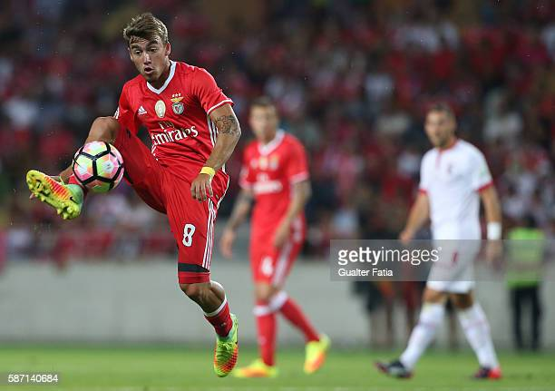 Benfica's midfielder Andre Horta in action during the Super Cup match between SL Benfica and SC Braga at Estadio Municipal de Aveiro on August 7 2016...