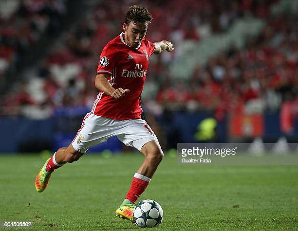 BenficaÕs midfielder Andre Horta in action during the UEFA Champions League match between SL Benfica and Besiktas JK at Estadio da Luz on September...