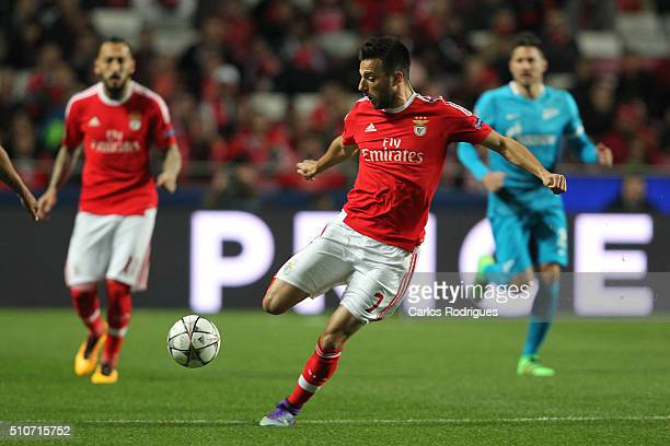 Benfica's midfielder Andreas Samaris during the match between SL Benfica and FC Zenit for the UEFA Champions League Round of 16 First Leg at Estadio...