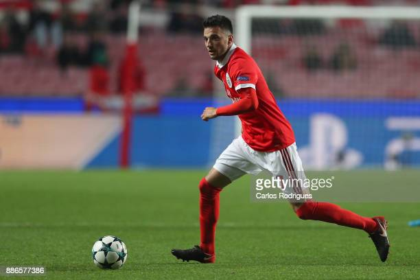 Benfica's midfielder Andreas Samaris from Greece during SL Benfica v FC Basel UEFA Champions League round six match at Estadio da Luz on December 05...