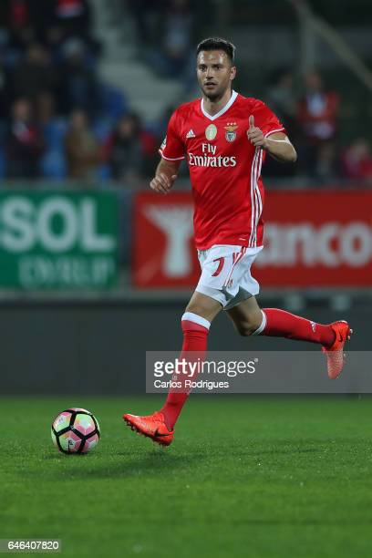 Benfica's midfielder Andreas Samaris from Greece during the match between Estoril Praia SAD and SL Benfica for the Portuguese Cup at Estadio Antonio...