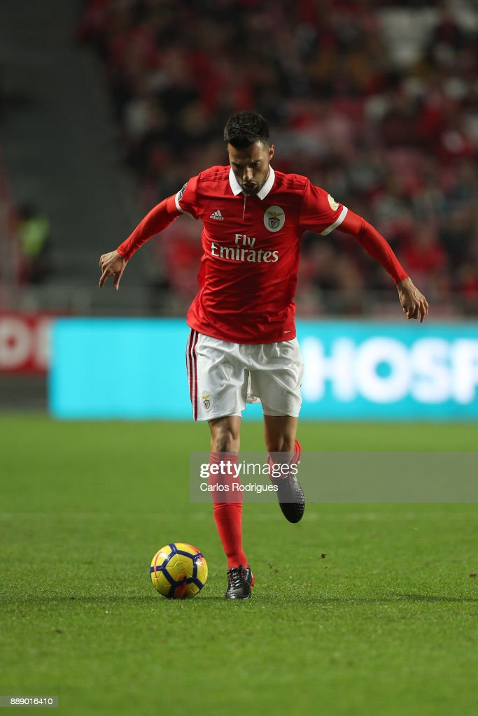 Benfica's midfielder Andreas Samaris from Greece during the match between SL Benfica and Estoril Praia SAD for the Portuguese Primeira Liga at Estadio da Luz on December 09, 2017 in Lisbon, Portugal.