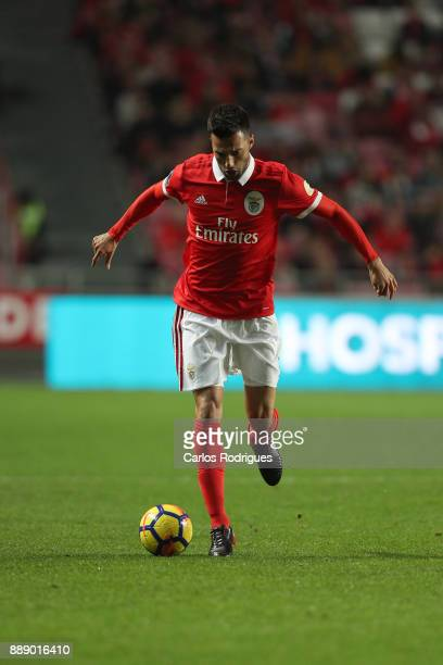 Benfica's midfielder Andreas Samaris from Greece during the match between SL Benfica and Estoril Praia SAD for the Portuguese Primeira Liga at...