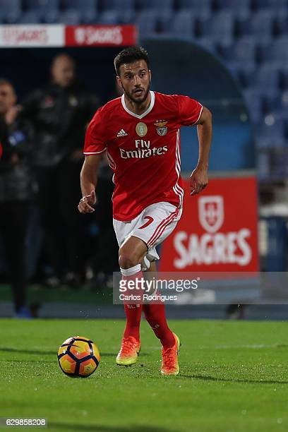 Benfica's midfielder Andreas Samaris from Greece during the Portuguese Cup Match between Real Massama v SL Benfica at Estadio do Restelo on December...