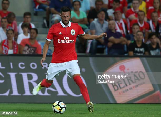 Benfica's midfielder Andreas Samaris from Greece in action during the Algarve Cup match between SL Benfica and Hull City at Estadio Algarve on July...