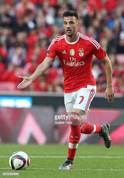 Benfica's midfielder Andreas Samaris in action during the Primeira Liga match between SL Benfica and Rio Ave FC at Estadio da Luz on December 20 2015...