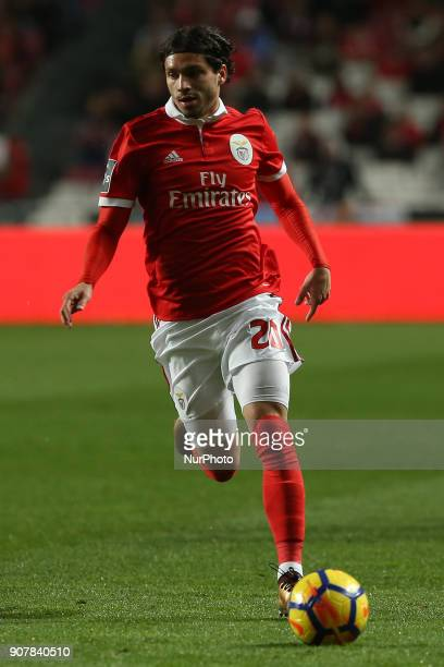 Benficas midfielder Filip Krovinociv from Croatia during the Premier League 2017/18 match between SL Benfica v GD Chaves at Luz Stadium in Lisbon on...