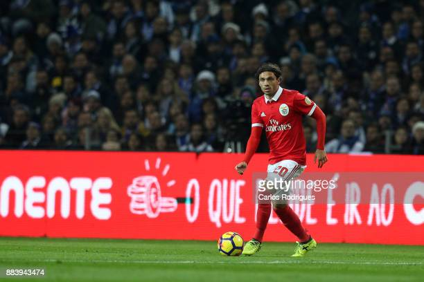 Benfica's midfielder Filip Krovinovic from Croatia during the FC Porto v SL Benfica Primeira Liga match at Estadio do Dragao on Dezember 01 2017 in...