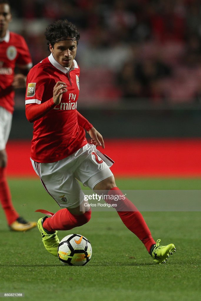 Benfica's midfielder Filip Krovinovic from Croatia during the match between SL Benfica and SC Braga for the Portuguese Taca da Liga at Estadio da Luz on September 20, 2017 in Lisbon, Portugal.