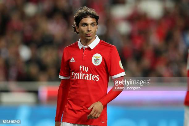 Benfica's midfielder Filip Krovinovic from Croatia during the match between SL Benfica and FC Vitoria Setubal for the Portuguese Primeira Liga at...