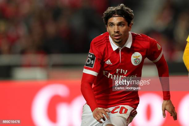 Benfica's midfielder Filip Krovinovic from Croatia during the match between SL Benfica and Estoril Praia SAD for the Portuguese Primeira Liga at...