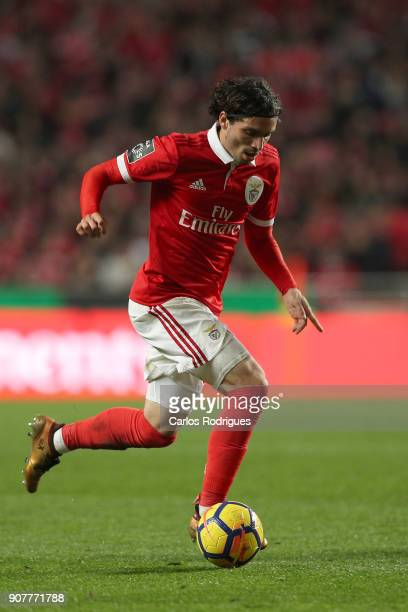 Benfica's midfielder Filip Krovinovic from Croatia during the match between SL Benfica and GD Chaves for the Portuguese Primeira Liga at Estadio da...