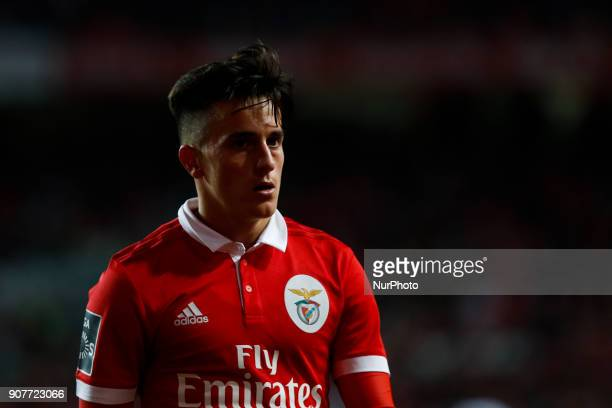 Benfica's midfielder Franco Cervi in action during Primeira Liga 2017/18 match between SL Benfica vs GD Chaves in Lisbon on January 20 2018