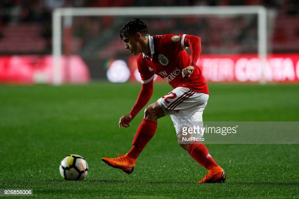 Benfica's midfielder Franco Cervi in action during Primeira Liga 2017/18 match between SL Benfica vs CS Maritimo in Lisbon on March 3 2018