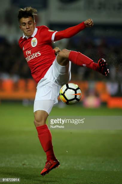 Benfica's midfielder Franco Cervi in action during the Portuguese League football match between Portimonense SC and SL Benfica at Portimao Stadium in...