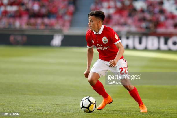 Benfica's midfielder Franco Cervi in action during the Portuguese League football match between SL Benfica and Moreirense FC at Luz Stadium in Lisbon...