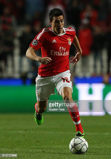 BenficaÕs midfielder from Argentina Nico Gaitan in action during the UEFA Champions League Round of 16 First Leg match between SL Benfica and FC...
