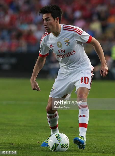 Benfica's midfielder from Argentina Nico Gaitan in action during the Taca CTT Final match between SL Benfica and CS Maritimo at Estadio Efapel Cidade...