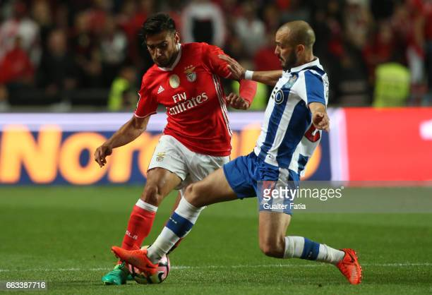 BenficaÕs midfielder from Argentina Salvio with FC PortoÕs midfielder from Portugal Andre Andre in action during the Primeira Liga match between SL...