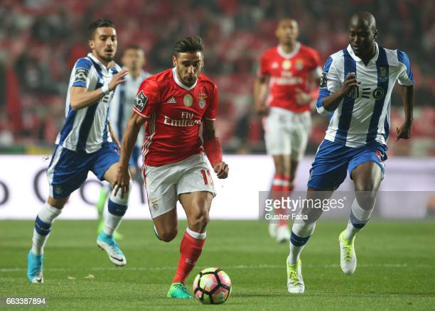 BenficaÕs midfielder from Argentina Salvio with FC PortoÕs midfielder from Portugal Danilo Pereira in action during the Primeira Liga match between...
