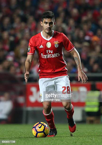Benfica's midfielder from Colombia Guillermo Celis in action during the Primeira Liga match between SL Benfica and FC Pacos de Ferreira at Estadio da...