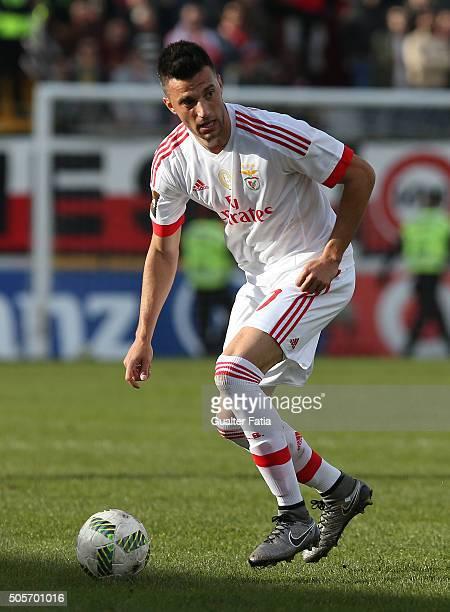 Benfica's midfielder from Greece Andreas Samaris in action during the Taca da Liga match between Oriental Lisboa and SL Benfica at Estadio Engenheiro...