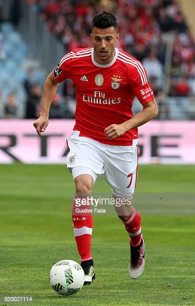 Benfica's midfielder from Greece Andreas Samaris in action during the Primeira Liga match between A Academica de Coimbra and SL Benfica at Estadio...