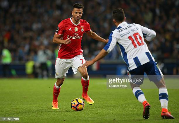 Benfica's midfielder from Greece Andreas Samaris in action during the Primeira Liga match between FC Porto and SL Benfica at Estadio do Dragao on...